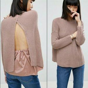 ASOS Chunky Knit Split Back Sweater Size 10